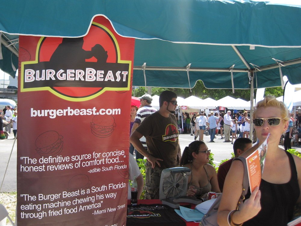 Burger Beast Tent at the Fall For The Arts