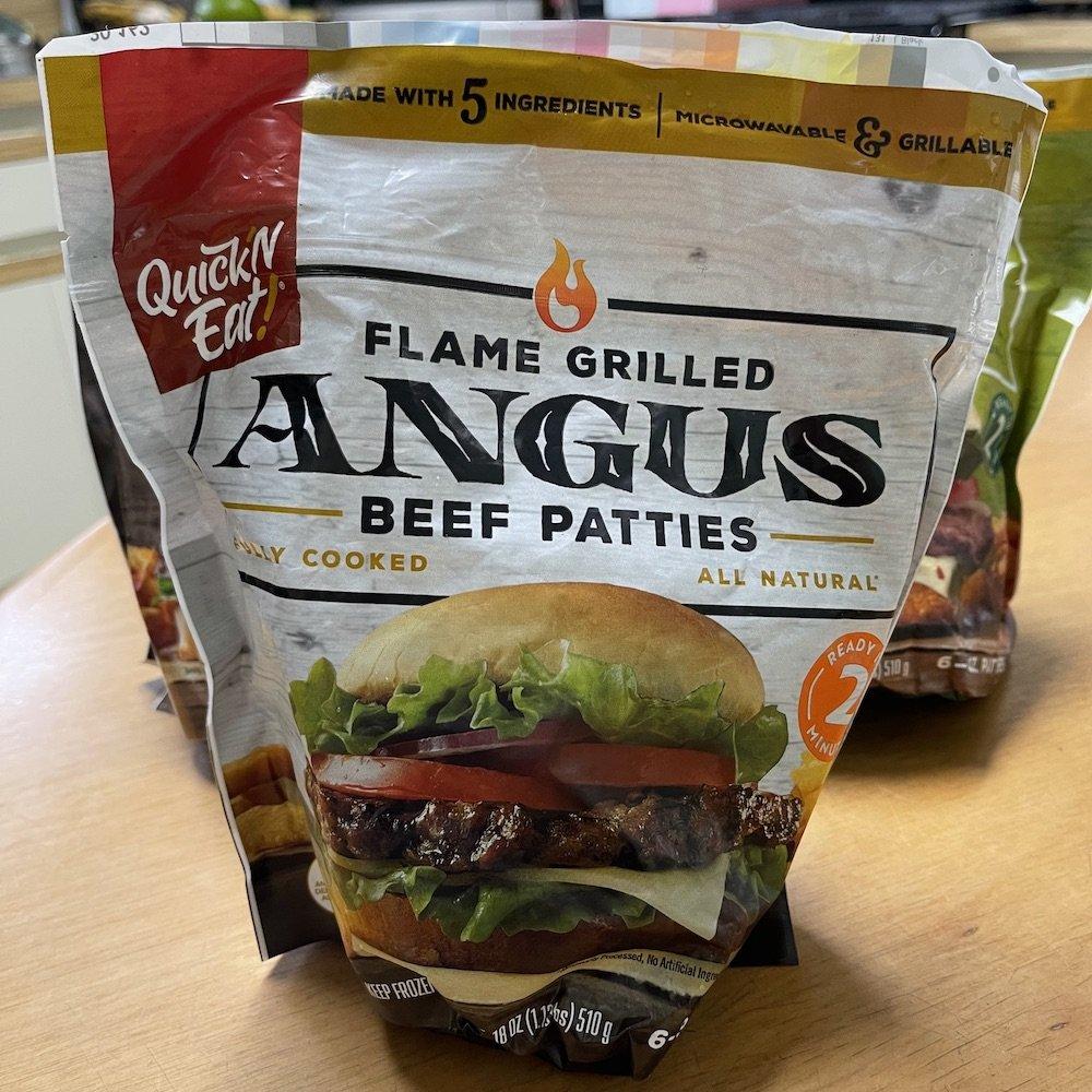 Quick 'N Eat Half-Pound Angus Burgers Bag