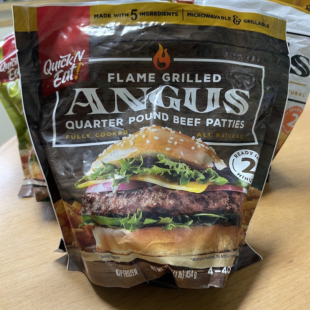 Quick 'N Eat Quarter-Pound Angus Burgers Bag