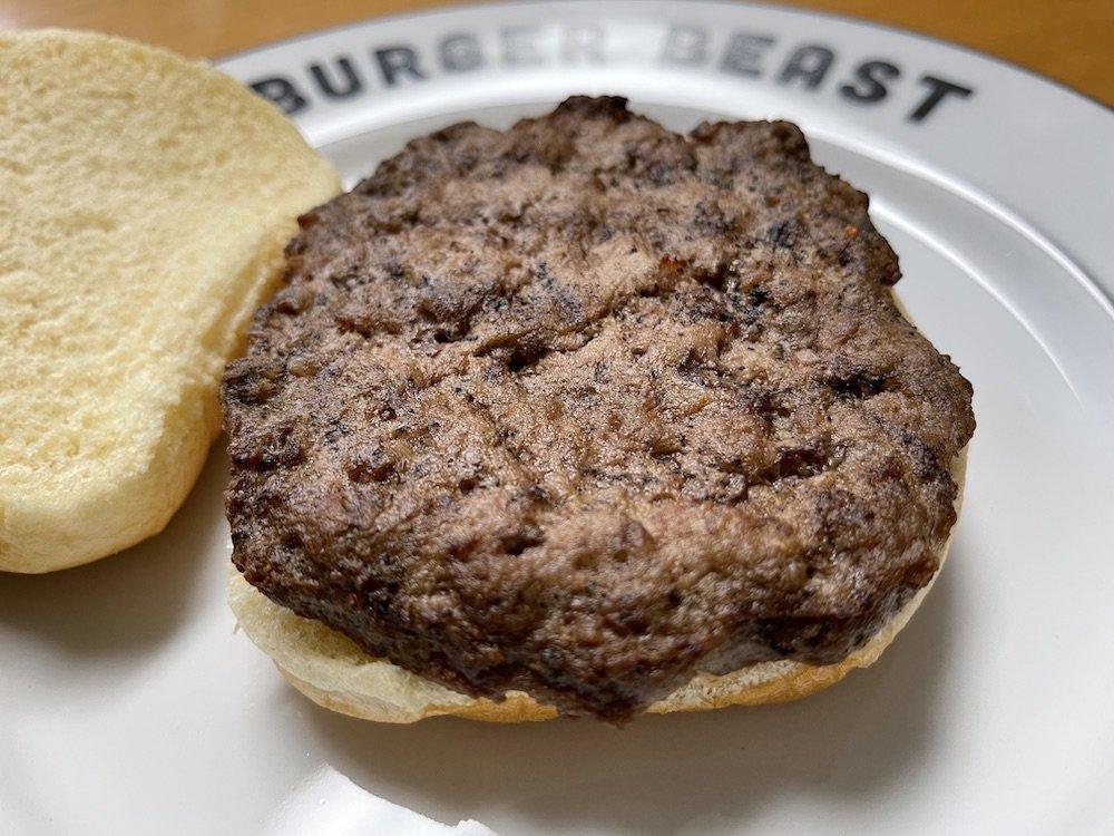 Quarter Pound Burger Open Face by Quick 'N Eat