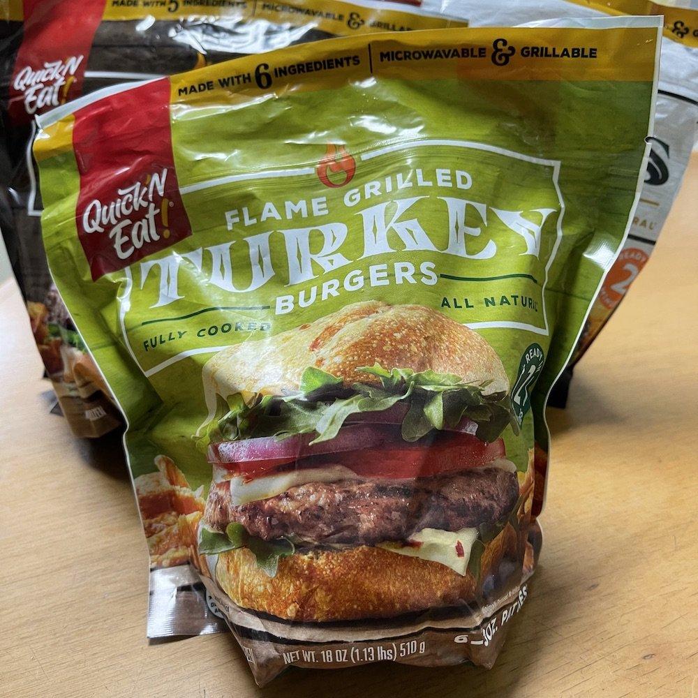 Quick 'N Eat Turkey Burgers Bag