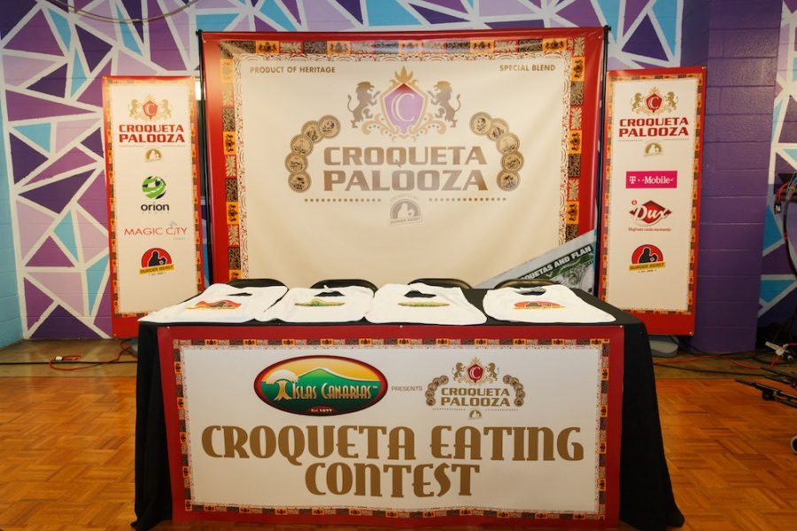 Islas Canarias Croqueta Eating Contest at Croqueta Palooza