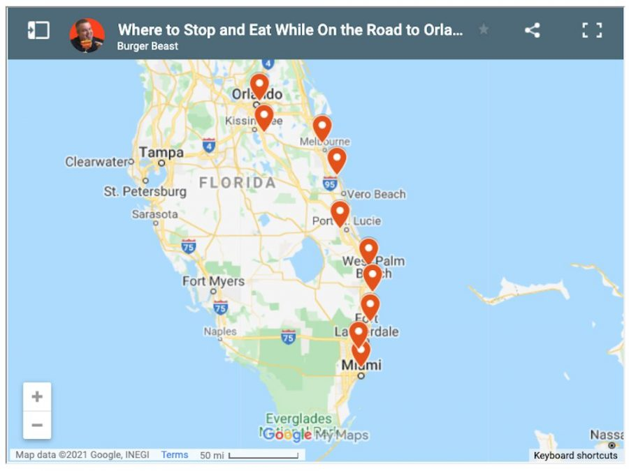 Where to Stop and Eat While On the Road to Orlando